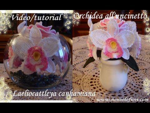 Orchidea all'uncinetto