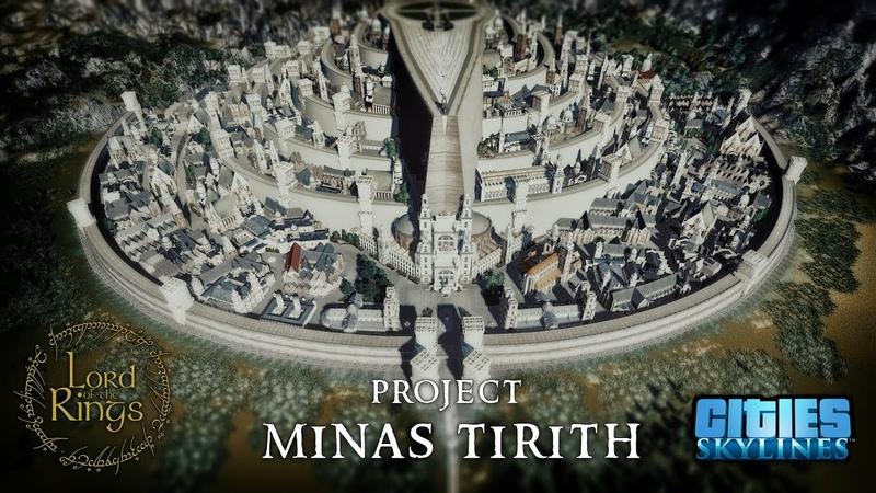 Cities Skylines: PROJECT MINAS TIRITH Speed Build [4K]