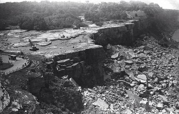 Остановка Ниагарского водопада на ремонт.