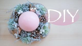 Очень нежная Новогодняя свеча / DIY Tsvoric / Christmas candle