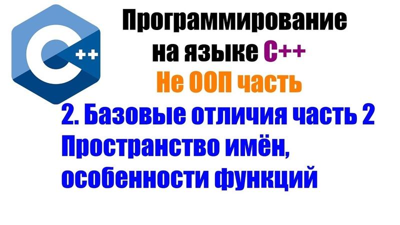 Программирование на языке С. Урок 2. Пространство имён, особенности функций