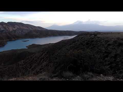 6 Армения, Банаван. Плато напротив Гегамского хребта. Сумерки