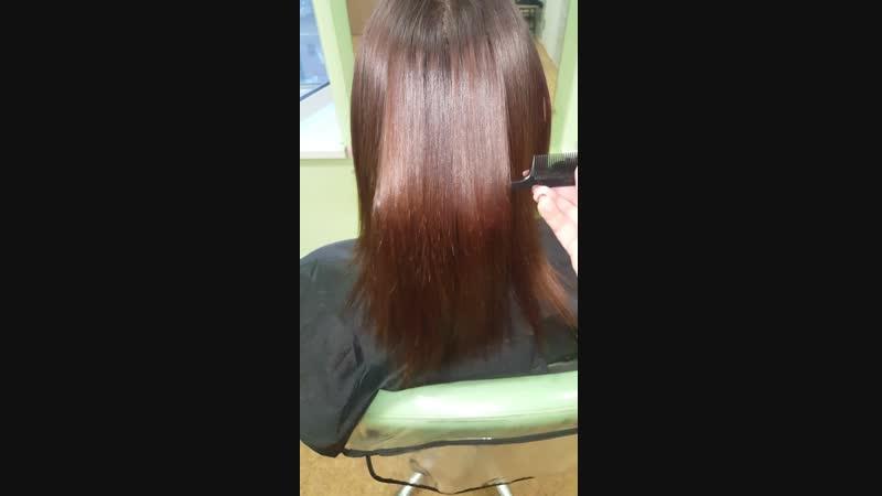 Кератиновое восстановление и выпрямление волос (моя работа)