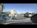 Nearly knocked pram with baby || Чуть не сбил коляску с ребенком