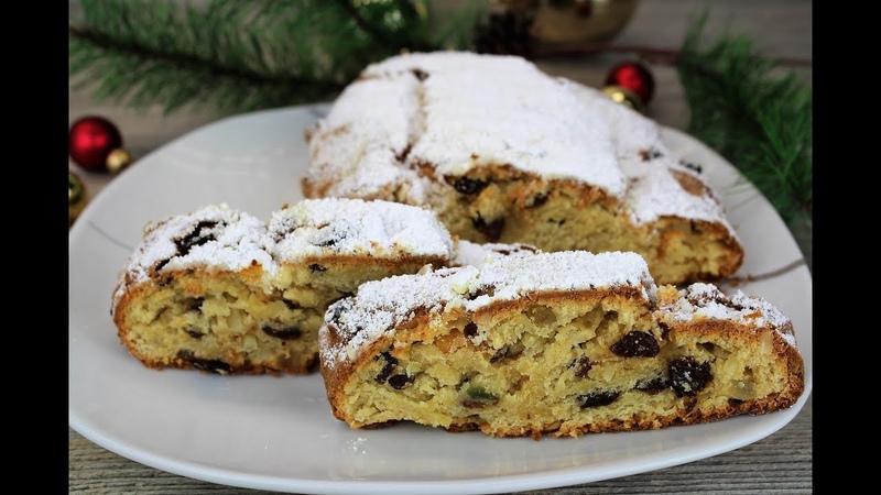 Рождественский Штоллен 🔸Творожный Штоллен с изюмом, миндалем, цукатами, корицей 🔸 Немецкая кухня