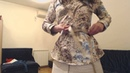 Mini jupe en daim beige