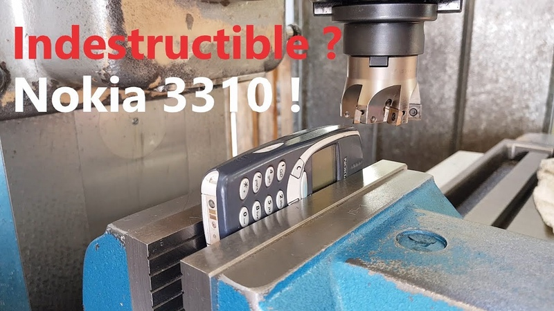 Is it realy Indestructible Nokia 3310 vs Milling Machine