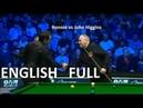 Ronnie OSullivan vs John Higgins - full match Champion of Champions Snooker 2018 QF
