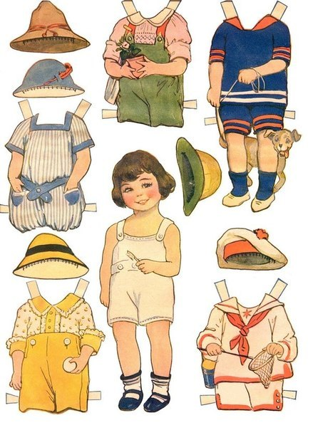 Бумажные куклы и платьица к ним. Сохраняем, распечатываем, вырезаем и играем!