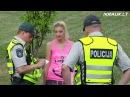 Apsinuoginusios merginos šokis Vilniaus centre (censored) (голая девушка-анорексик танцующая на улицах Вальнюса xD)