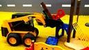 Vidéo pour enfants Gros véhicules et construction d'un aire de jeux