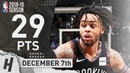 D'Angelo Russell Full Highlights Nets vs Raptors 2018.12.07 - 29 Pts, 5 Ast, 5 Rebounds!
