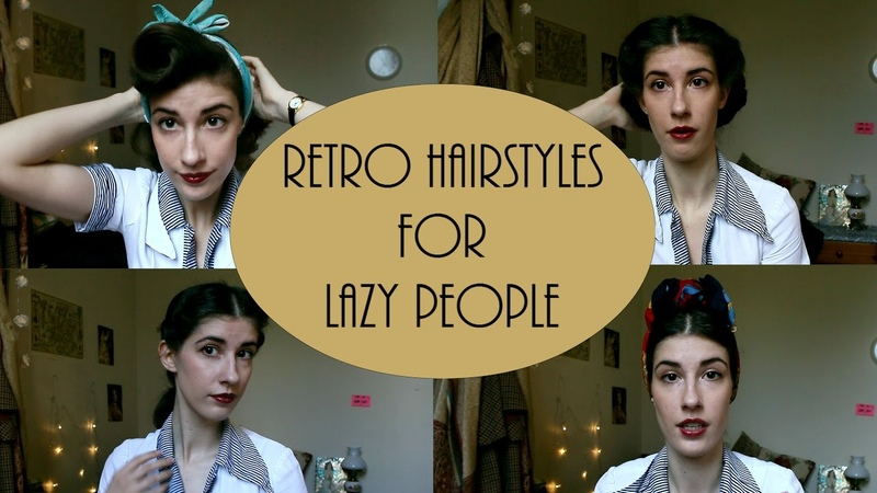 4 Simple Retro Hairstyles for Lazy People