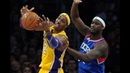 Kwame Brown's Last NBA Game In Staples Center. Got Booed. Monster Defence! (01.01.2013)