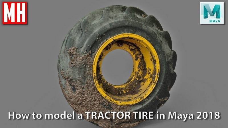 Maya tutorial : How to model a TRACTOR TIRE