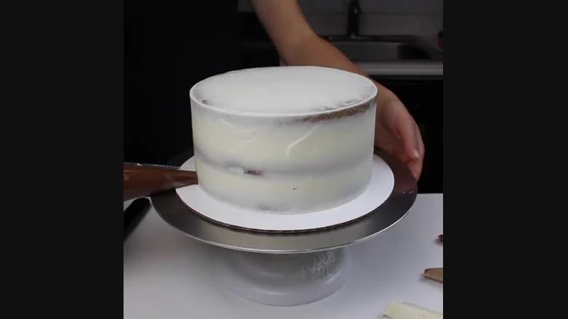 ненавязчивое оформление торта