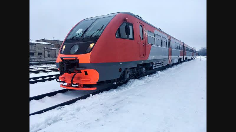В Рыбинск прибыл рельсовый автобус