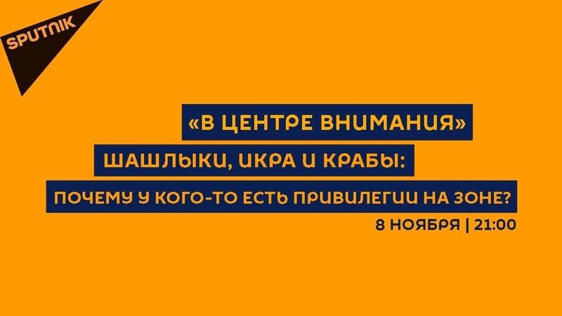В центре внимания / 08.11.18 Шашлыки, икра и крабы: почему у кого-то есть привилегии на зоне?