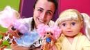 Oyuncak bebek ile çocuk videoları. Sevcan LOL bebeklerin perukleri ile oynuyor
