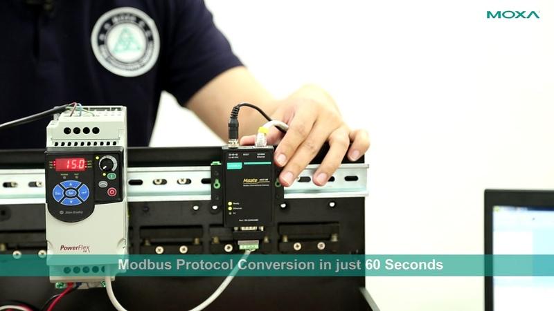 Convert Modbus RTU to Modbus TCP Protocol in 60 seconds with Moxa MB3000 Series Modbus Gateway