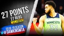 Karl-Anthony Towns Full Highlights 2019.01.12 T-Wolves vs Pelicans - 27 Pts, 27 Rebs! | FreeDawkins