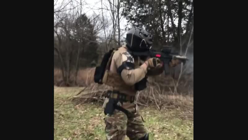 Стрельба из пистолета CZ Scorpion EVO 3 S1 с УСМ от Franklin Armory
