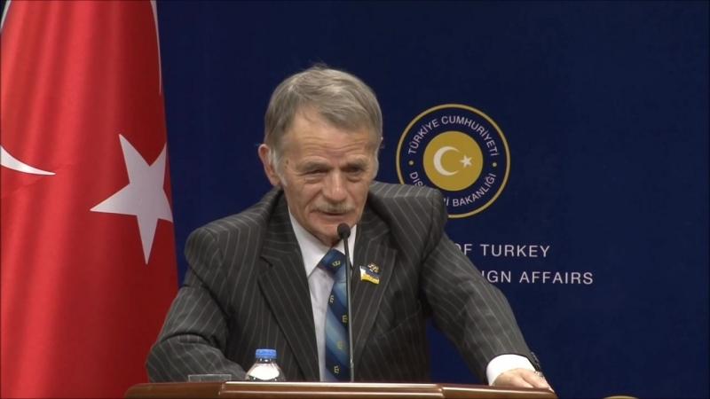 Sayın Bakanımızın Kırım Tatar Milli Meclisi Eski Başkanı Kırımoğlu ile Ortak Basın Toplantısı