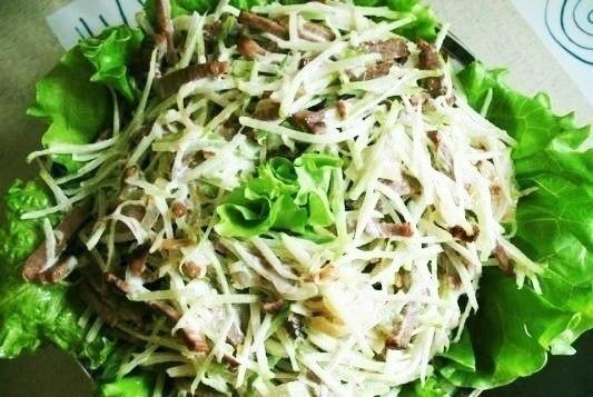 Салат из черной редьки рецепт очень вкусный