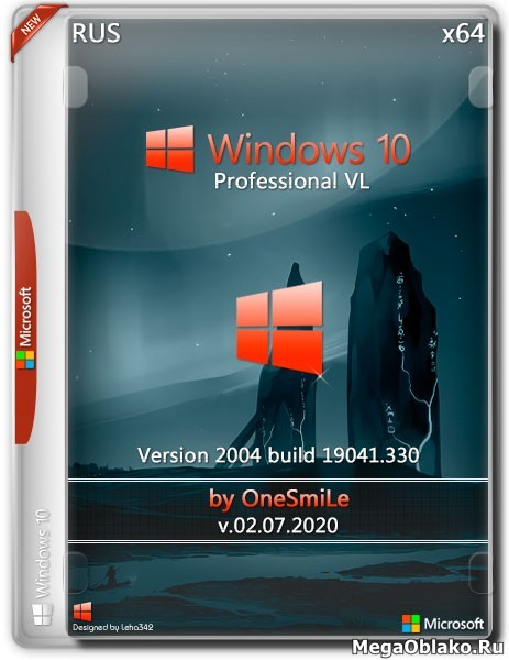 Windows 10 Pro x64 2004.19041.330 by OneSmiLe (RUS/2020)