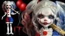 Harley Quinn Pennywise (It) inspired Doll - Repaint Tutorial
