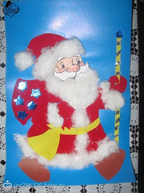 Новогодние открытки-дед мороз своими руками 73