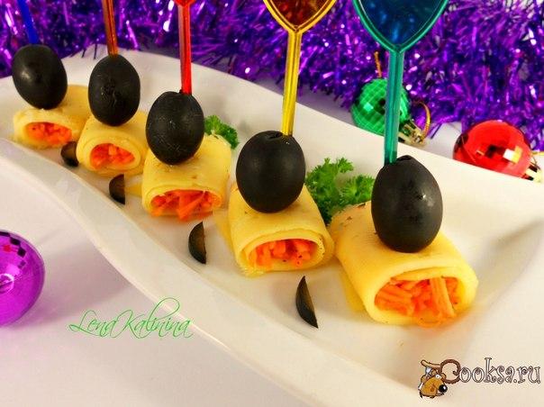 Красивая, вкусная и не сложная в приготовлении закусочка для Вашего новогоднего стола!