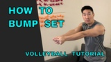 How to BUMP SET a VOLLEYBALL (Volleyball Tutorial)