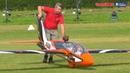 Giant 50% scale RC FOX jet turbine powered GLIDER