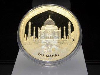 Удивительные и дорогие монеты евро. монеты, нумизматика, 100 тысяч евро, Тадж Махал