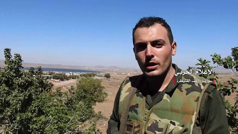 Медиа объектив документирует контроль сирийской армии в деревне Кахтания и контролирует танки и позиции сионистского врага