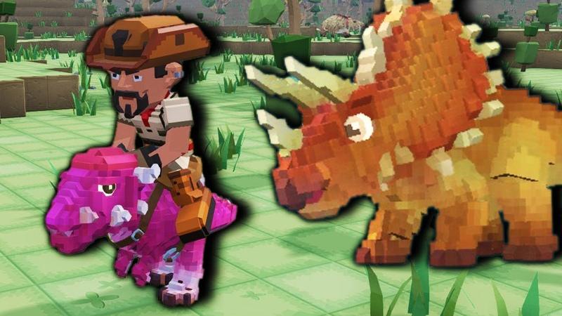 Как приручить Драконов Minecraft плюс Динозавры равно PixARK Приключения в Квадратном Мире FGTV