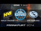 Natus Vincere vs. Evil Geniuses - Quarterfinals Map 1 - ESL One Frankfurt 2014 - Dota 2