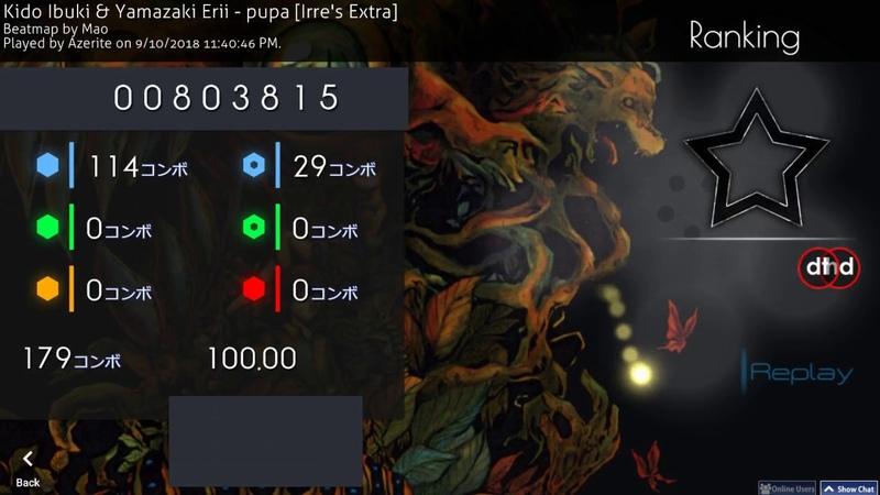Osu! | Azerite | Kido Ibuki Yamazaki Erii - pupa [Irre's Extra] HD,DT 100% SS 384pp 1