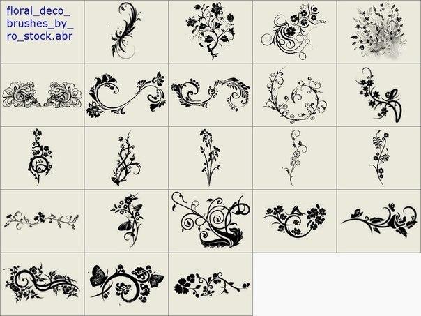Схемы рисования узоров на