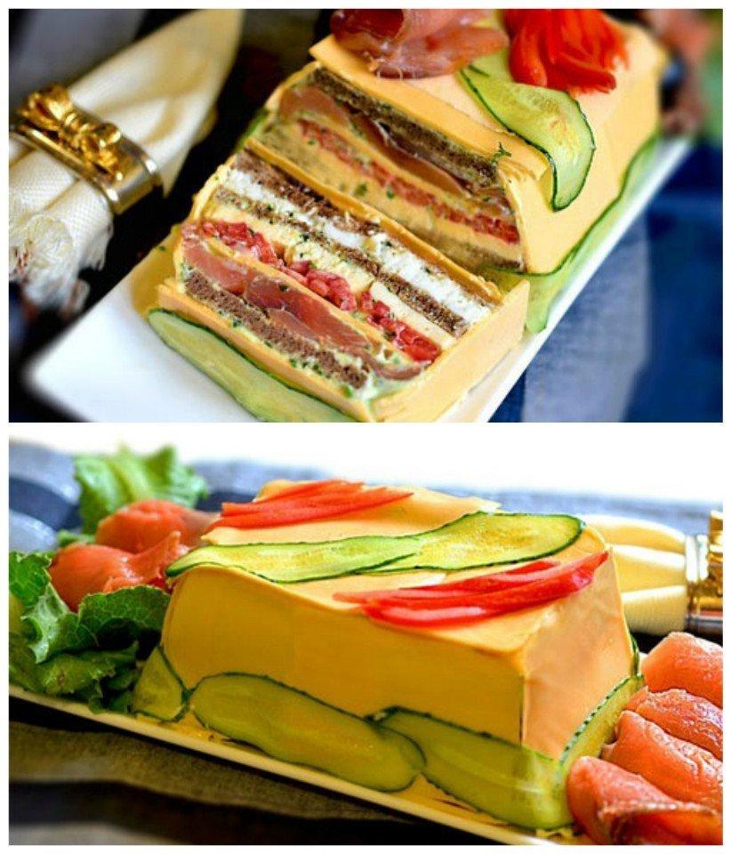 Невероятное блюдо - сырный закусочный торт!
