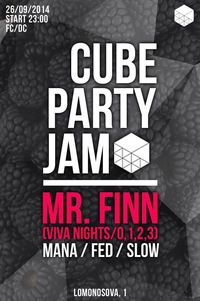 10/10 PARTY JAM w/ MR. FINN @ CUBE BAR