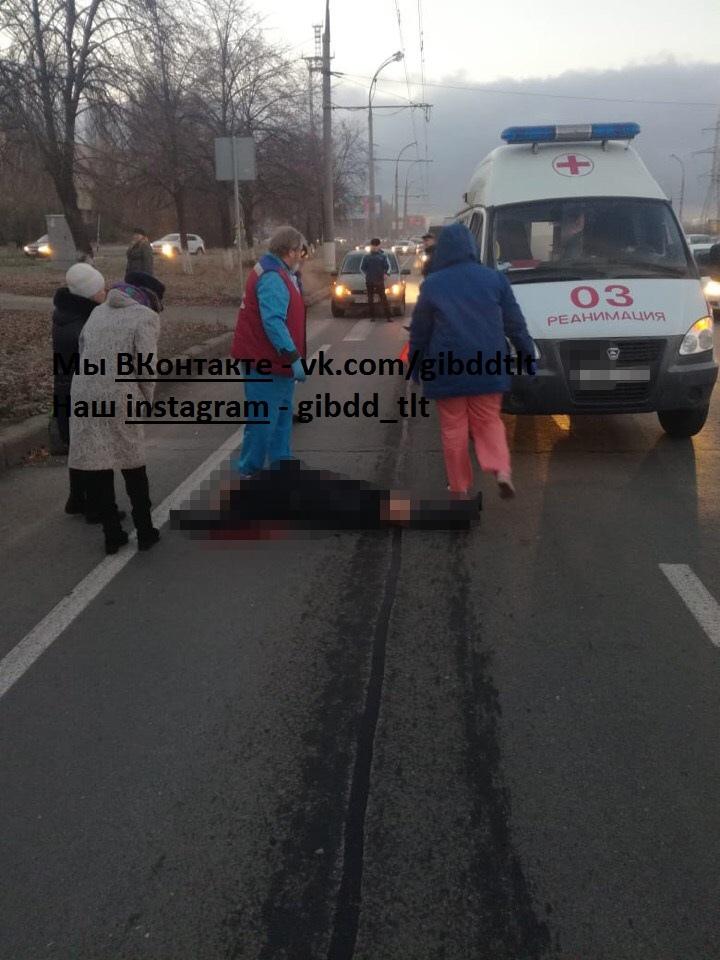 Утром в Тольятти сбили женщину, которая переходила дорогу по
