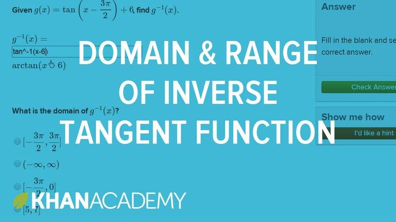 Inverse tan domain and range | Trigonometry | Khan Academy