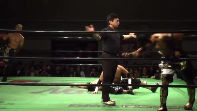 Hajime Ohara, Junta Miyawaki vs. HAYATA, YO-HEY (NOAH - Global Junior League 2018 - Day 8)