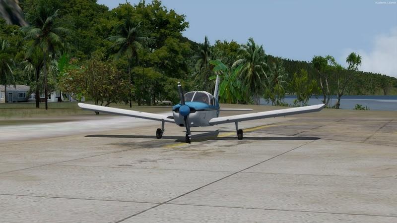 [Prepar3D] A2A Piper Cherokee 180 - from Ofu to Fitiuta (ORBX NSTU Pago Pago, American Samoa)