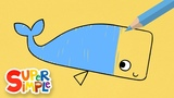 Drawing And Colouring A Whale + More Drawing For Kids Watch &amp Learn