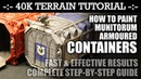 40K Terrain Tutorial How to Paint Munitorum ARMOURED CONTAINERS! HD