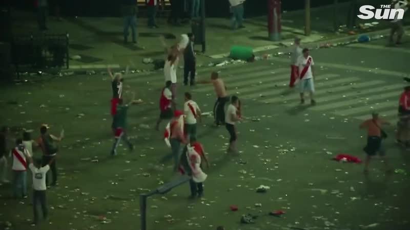 Violent scenes after River Plate beat Boca Juniors in Copa Libertadores final