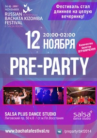 ** Pre-Party RUSSIAN BACHATA KIZOMBA FEST**